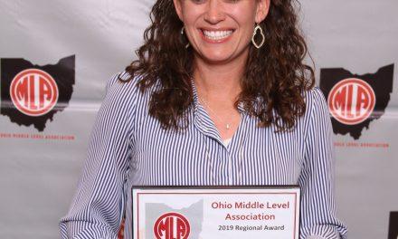Loveland Middle School's Catie Rudisell Wins Regional Award by the OMLA