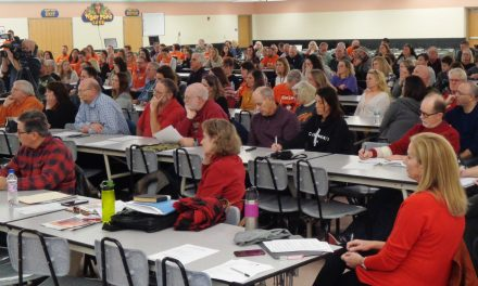 Big crowd on hand for big news from Loveland School board meeting