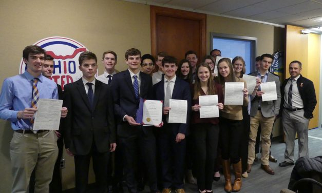 Students from Loveland High School's Tigers Inc. met with Ohio Secretary of State