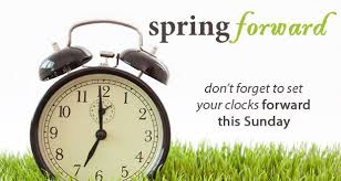 It's time: spring forward