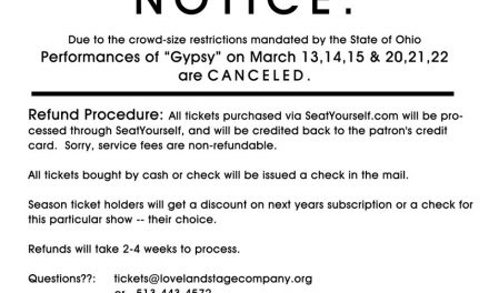 "Loveland Stage Company cancels remaining performances of ""Gypsy"" due to Coronavirus precautions"
