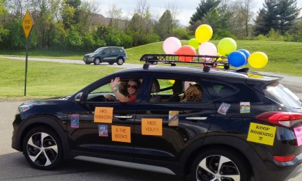 Friday evening auto parade honored Loveland teachers