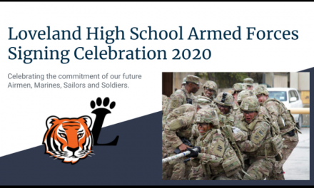 10 Seniors Recognized in the Third Annual Loveland High School Armed Forces Signing Ceremony