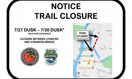 STORY UPDATE 7/21: temporary closure of Loveland Bike Trail bridge planned