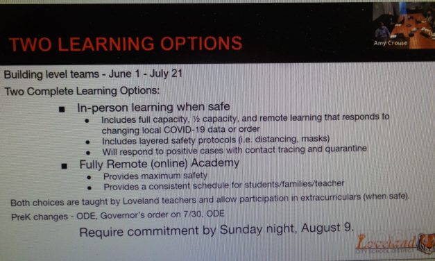 5 Day Full Capacity in-person Return to Loveland Schools Not Likely