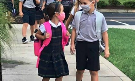 They're back . . . the kids are back in school at St. Columban