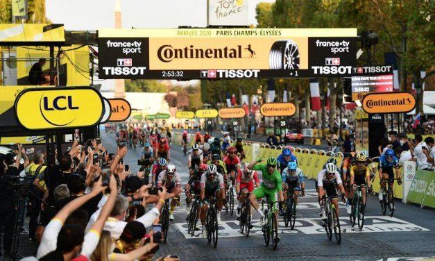 LE TOUR DE FRANCE FINAL: 21 year old Slovenian Tadej Pogacar wins the 2020 Tour de France