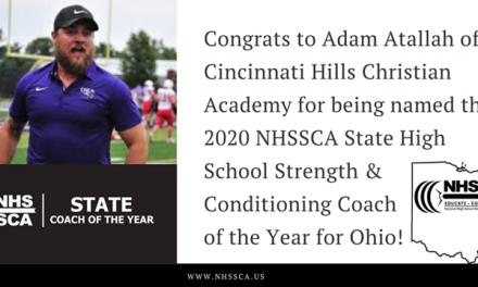 Cincinnati Hills Christian Academy Coach gets Top Ohio Honor