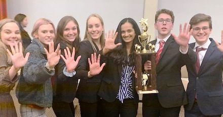 High-FIVE for Indian Hill High School Mock Trial Team