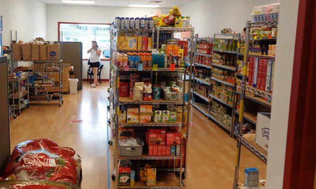 Shelves are getting low at the LIFE Food Pantry